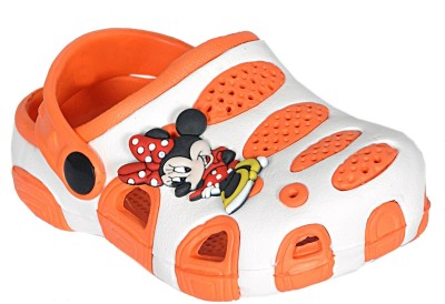 Leon Boys & Girls Slip-on Clogs(Orange)