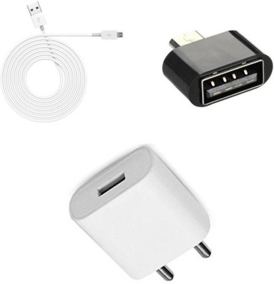 MOBILE LINK Wall Charger Accessory Combo for OPPO A37(White)