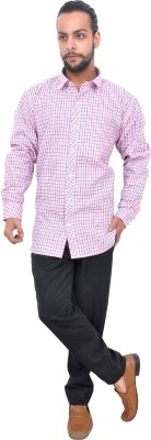 Mods Men Checkered Casual Button Down Shirt