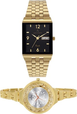 ADIXION 0041YM-1918YM01 New Series Gold Analog Combo Watch Watch  - For Men & Women