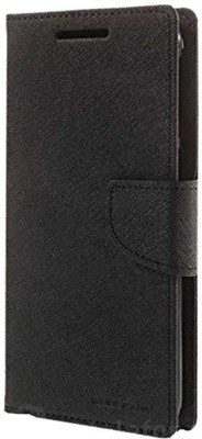 Vimkart Wallet Case Cover for 5 inch mobile Matrixx(Black, Grip Case, Artificial Leather)