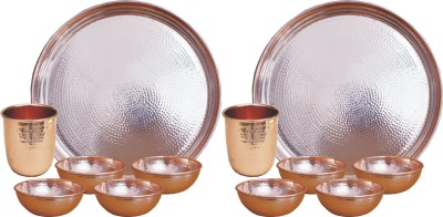 Veda Home   Lifestyle Pack of 12 Copper VEDA COPPER HAMMERED 14\ Veda Home   Lifestyle Dinner Sets