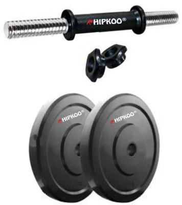 Hipkoo Gym Dumbbells 2 Pvc Plates 2kg each (4kg) & 1 Rod Adjustable Dumbbell(4 kg)  available at flipkart for Rs.699