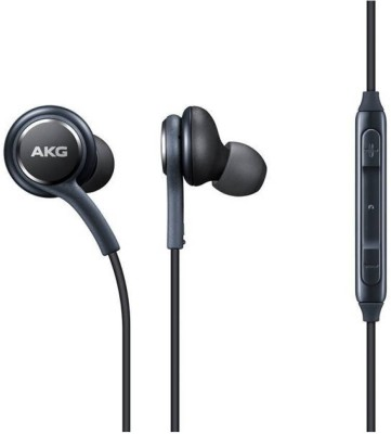 Moojlo Earphone Akg Earphone With Mic And Colth Wired Earphone And All mobiles 32 Wired Headset with Mic(Black, In the Ear)
