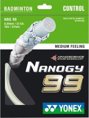 Yonex 'Nano Gy 99'  NBG 99 , Medium Feeling  0.69 Badminton String   10 m