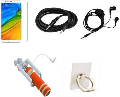 COZR Screen Protector Accessory Combo for Redmi Note 5 Multicolor