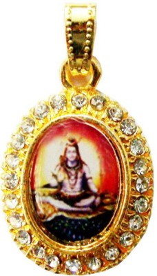 Numeroastro Gold Plated Lord Shiva Pendant Yellow Gold Cubic Zirconia Alloy Pendant