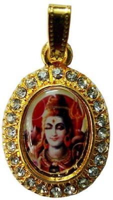Numeroastro Gold Plated Stone Studded Lord Shiva Pendant Gold-plated Cubic Zirconia Alloy Pendant