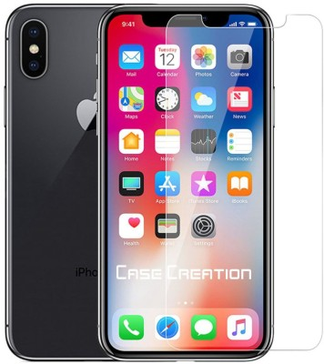 Case Creation Front and Back Tempered Glass for Apple iPhone X 2017(Pack of 2)