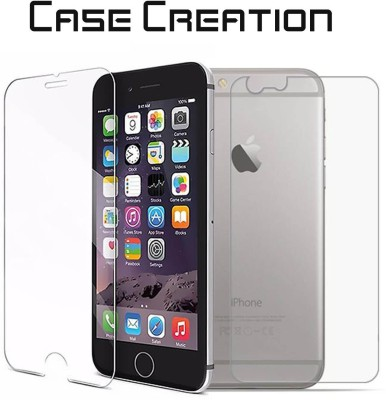 Case Creation Front and Back Tempered Glass for Apple iPhone 6s(Pack of 2)