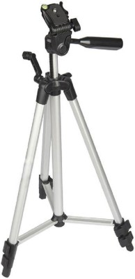 BJOS TF-3110A Metal Extendable Tripod Stand Monopod For Canon SONY Camera Camcorder Tripod (Silver, Black, Supports Up to 1500 g) Tripod(Silver & Black, Supports Up to 1500)