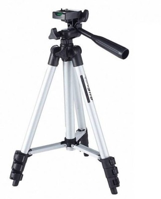 BJOS WT-3110A 105 Cm Long Dslr/Mobile/Gopro Action Camera/Digital3 Way Pan & Tilt Camera Tripod - Light Weight Pro Travel Tripod Tripod (Silver, Black, Supports Up to 2000 g) Tripod(Silver & Black, Supports Up to 2000 g) 1