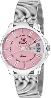 Fogg 4047-PK Day And Date Analog Watch For Women