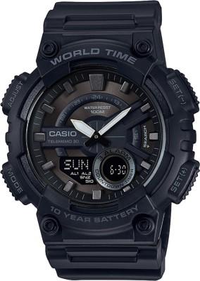 Casio AD218 Youth Combination ( AEQ-110W-1BVDF ) Analog-Digital Watch  - For Men