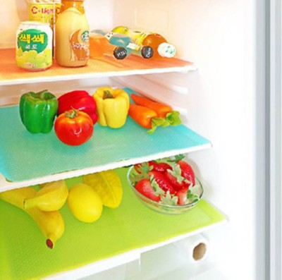Yellow Weaves Refrigerator Cover Multicolor