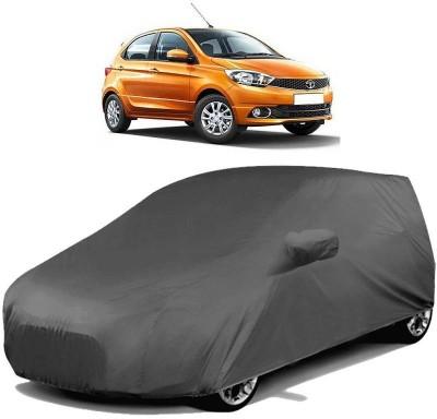 AutoKraftZ Car Cover For Tata Tiago (With Mirror Pockets)(Grey)