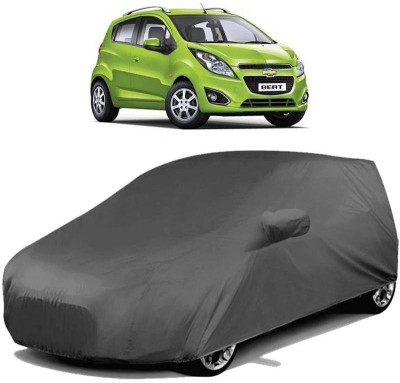 AutoKraftZ Car Cover For Chevrolet Beat (With Mirror Pockets)(Grey)