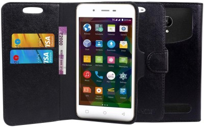 CHAMBU Flip Cover for Alco C2 CDMA GSM(Black, Dual Protection, Artificial Leather)