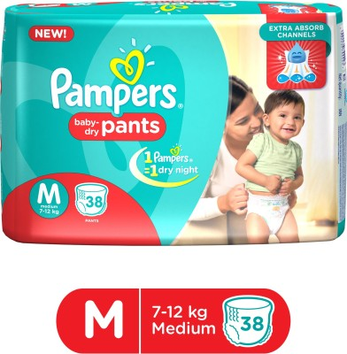 Pampers Pant M Diapers (38 Pieces)