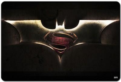 Shoperite Batman Superman Symbol Mousepad Multicolor
