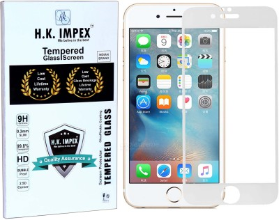 H.K.Impex Tempered Glass Guard for Apple iphone 6 Plus,apple iphone 6 plus tempered glass in mobile screen guard (full display cover).
