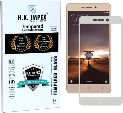 H.K.Impex Tempered Glass Guard for MI Redmi 3S /3S Prime,mi redmi 3s prime tempered glass in mobile screen guard (full display cover glass).(Pack of 1)