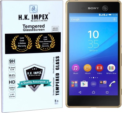 H.K.Impex Tempered Glass Guard for Sony Xperia M5 Dual,sony xperia m4 tempered glass in mobile screen guard