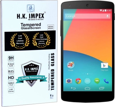 H.K.Impex Tempered Glass Guard for LG nexus 5,lg nexus 5 tempered glass in mobile screen guard (full display cover glass)