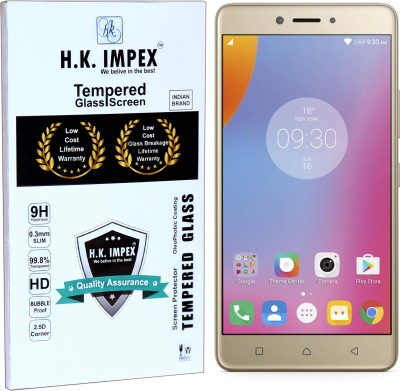 H.K.Impex Tempered Glass Guard for Lenovo K6 NOTE (5.5 INCH DISPLAY)(Pack of 1)
