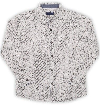 Scullers Kids Boys Printed Casual White Shirt at flipkart