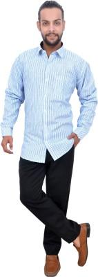 Mods Men Striped Casual Button Down Shirt