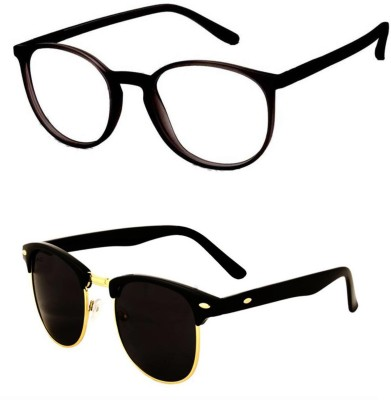 ffab2321d0 Buy Macv Eyewear Clear Lens Black Rectangle Sunglasses on Jabong ...