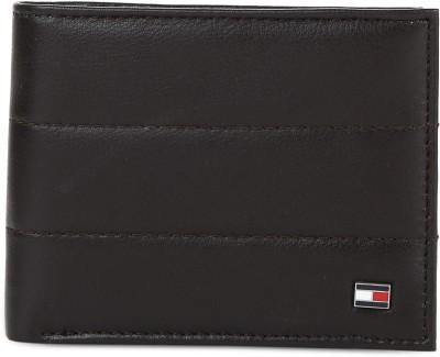 Tommy Hilfiger Men Brown Genuine Leather Wallet(4 Card Slots)