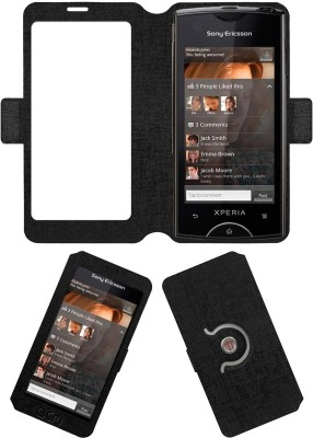 ACM Flip Cover for Sony Ericsson Xperia Ray St18i(Black, Cases with Holder, Artificial Leather)
