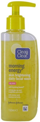 Clean & Clear Morning Energy Skin Brightening Daily Facial Wash, Oil-Free - 150ml Face Wash(150 ml)