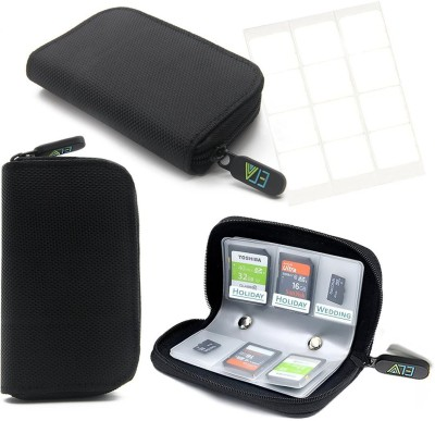 ELV Portable Card Holder 4 For SD Card(For SD Cards, Soft Black)