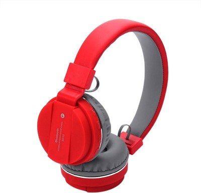 5PLUS 5PHP28 Wired Headset without Mic(Red, On the Ear)