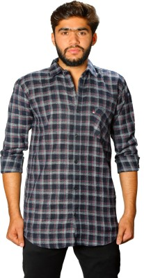 Rapphael Men Checkered Casual Spread Shirt