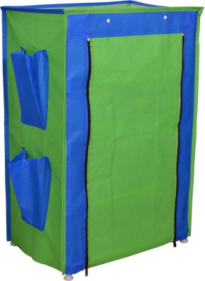 Raunak Metal Collapsible Shoe Stand(Blue, Green, 4 Shelves)