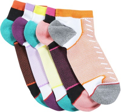 Soxytoes Men's Self Design Quarter Length Socks(Pack of 5)