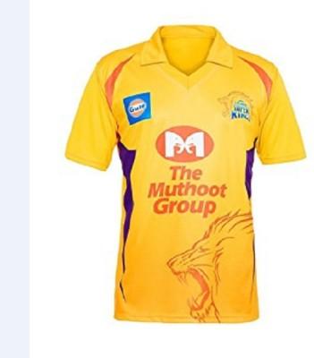 Sportigo Animal Print Men & Women Polo Neck Yellow T-Shirt