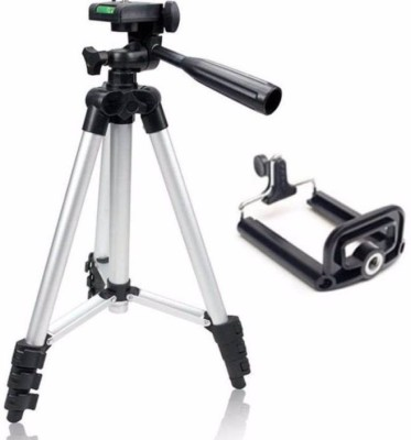 BJOS Universal Flexible 3110 Tripod With 3-Way for Digital Camera Video Camcorder Tripod Kit ZX5 Tripod (Silver, Supports Up to 1500 g) Tripod(Silver & Black, Supports Up to 15000 g) 1