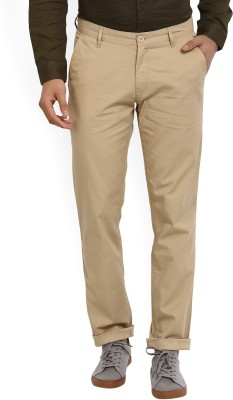 John Players Regular Fit Men Beige Trousers
