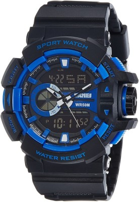 SKMEI 1117 BLU Analog Digital Watch   For Men SKMEI Wrist Watches