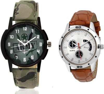 Wanton SP-Army K-16 gold moving diamond beads in dial watch with green army pattern military sport watch for couple men and women Watch  - For Boys & Girls