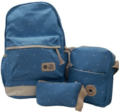 ceeb27d6c42 Insasta by Set Of 3 Pcs Sports Bag Canvas School Bag Backpack College  Women's Canvas Outdoors Camping Hiking Travel Bags-Blue School Bag(Blue, 5  inch)
