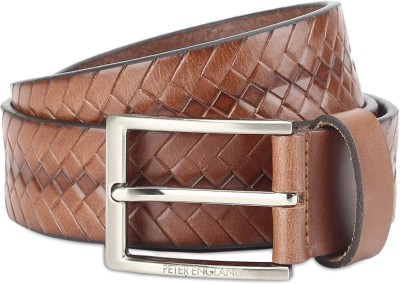 Peter England Men Tan Genuine Leather Belt