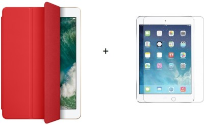 Case Trendz Flip Cover for apple ipad mini 4(red, Dual Protection)