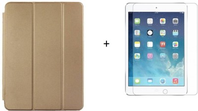 Case Trendz Flip Cover for apple Ipad air(gold, Dual Protection)