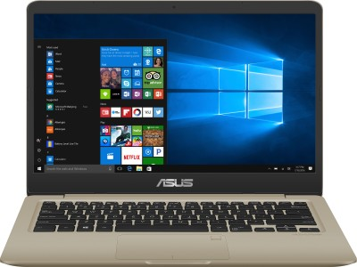 Asus Vivobook S14 Core i3 7th Gen - (8 GB/1 TB HDD/128 GB SSD/Windows 10 Home) S410UA-EB606T Thin and Light Laptop(14 inch, Gold, 1.30 kg)